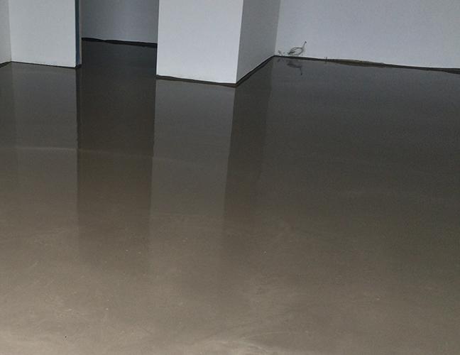 slebet cement gulv